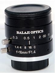 16 mm machine vision megapixel camera lenses (BMT-1416D) BALAJI OPTICS