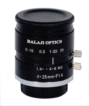 25 mm machine vision lenses (BMT-1425D) balaji optics in india